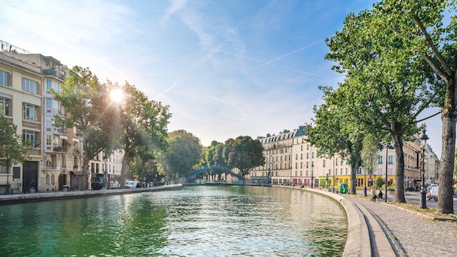 Região do Canal Saint Martin em Paris
