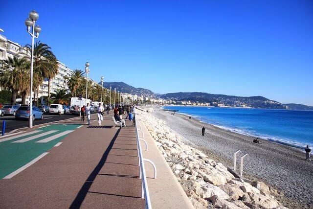 Vista da Promenade des Anglais