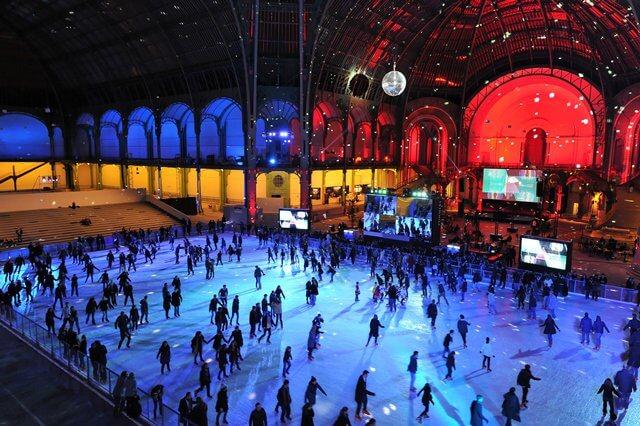 Pistas de patinação no gelo em Paris