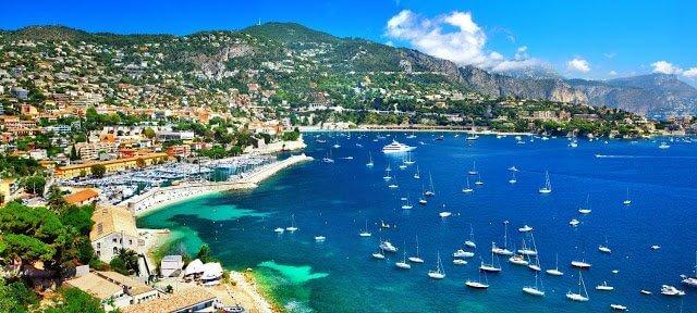 Cidades que fazem parte de Côte d'Azur na França