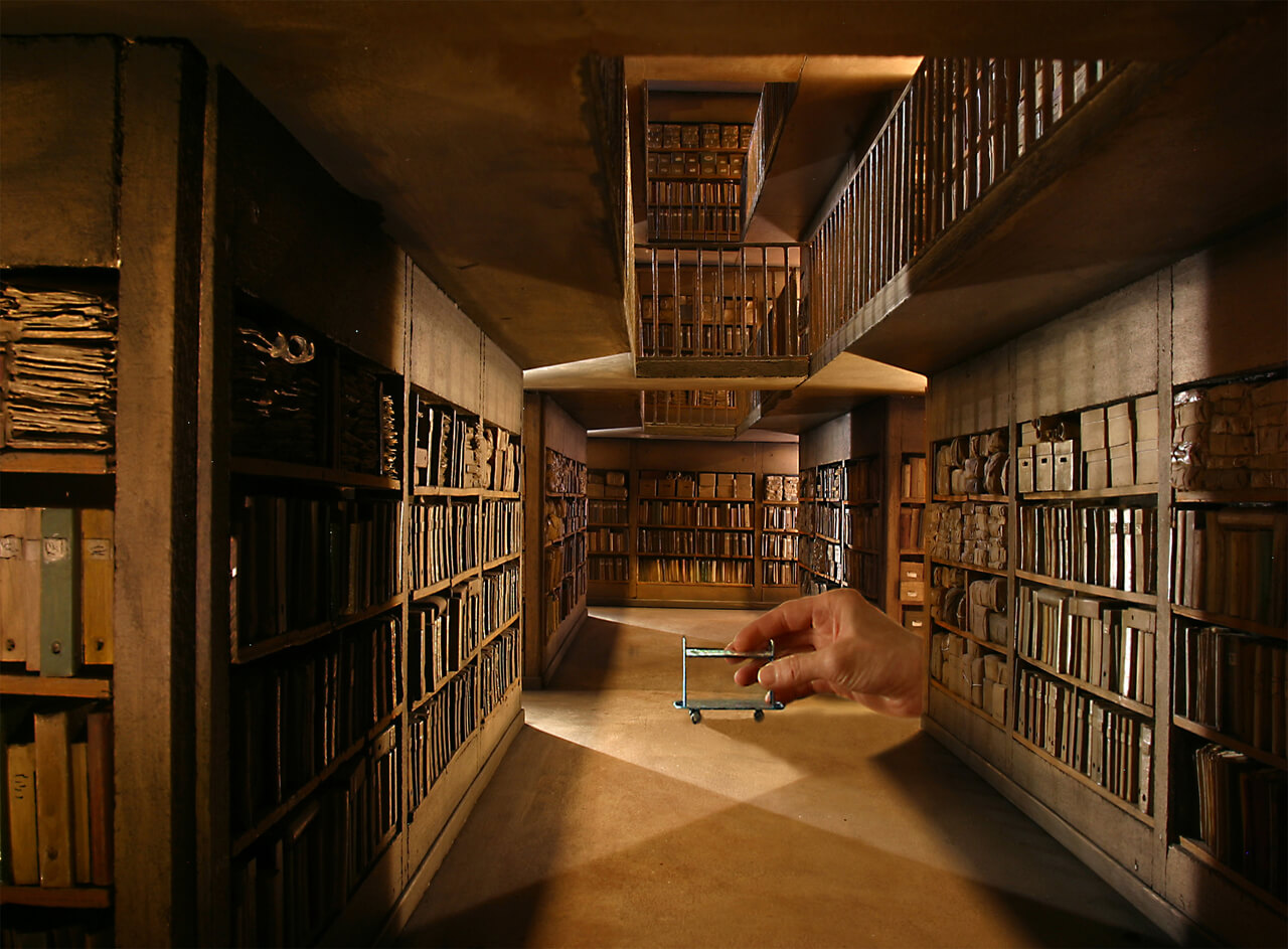 Biblioteca miniatura em Lyon