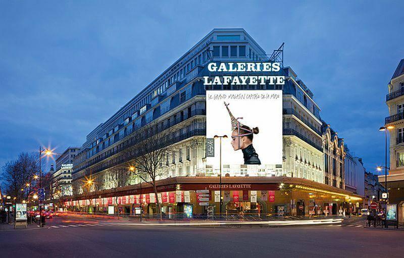 Frente da Loja Galeries Laffayete em Paris