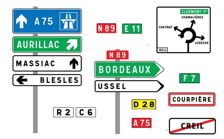 Placas de sinalização francesas