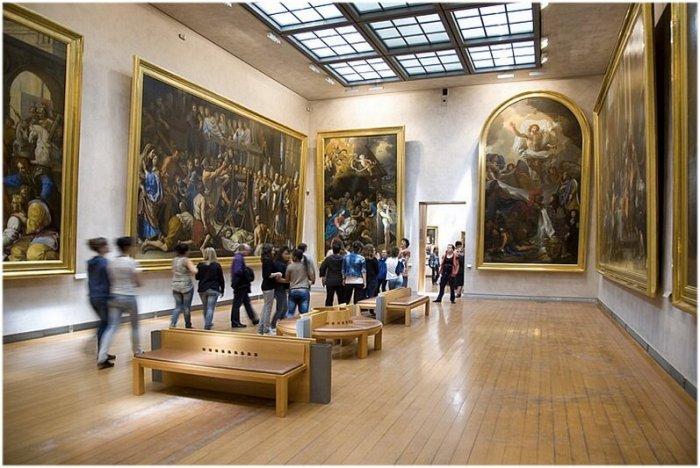 Sala do Museu de Belas Artes em Lyon