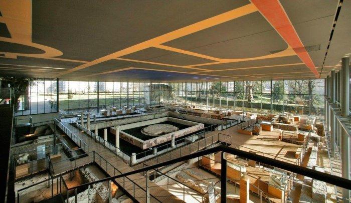 Vista do alto do Museu Galo-Romano