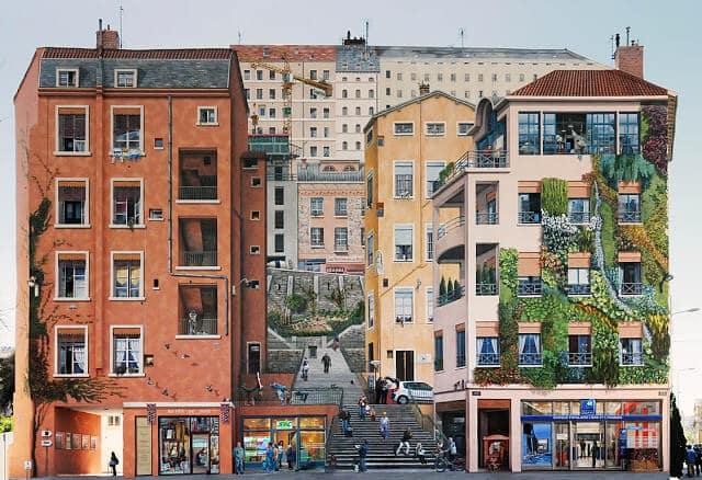 Murs des Canuts em Lyon