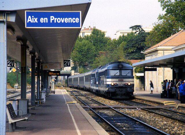 Viagem de trem de Lyon a Aix