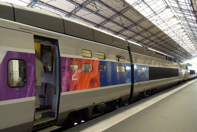 Viagem de trem de Toulouse a Lourdes