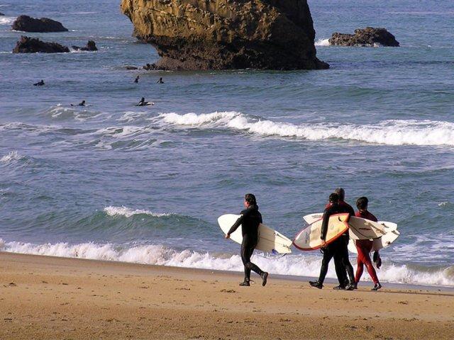 Surfe em Biarritz