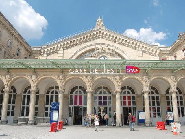 Viagem de trem de Paris a Frankfurt