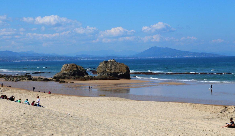 Praia la Milady em Biarritz