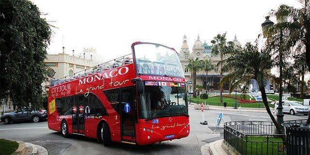 Passeio de ônibus turístico em Mônaco