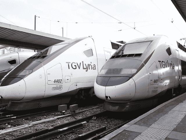 Viagem de trem de Paris a Genebra
