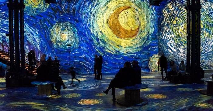 Noite Estrelada de Van Gogh na exposição interativa