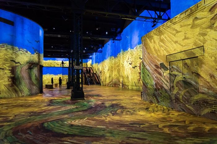 Pinturas de Van Gogh na exposição interativa