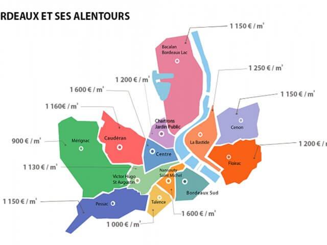Mapa turístico de Bordéus