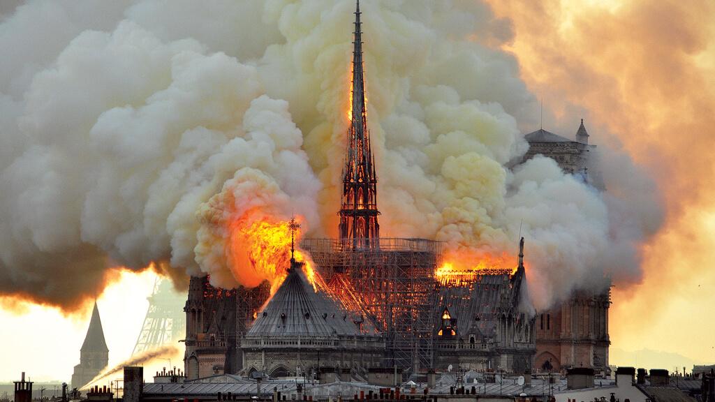 Incêndio na Catedral Notre Dame em Paris