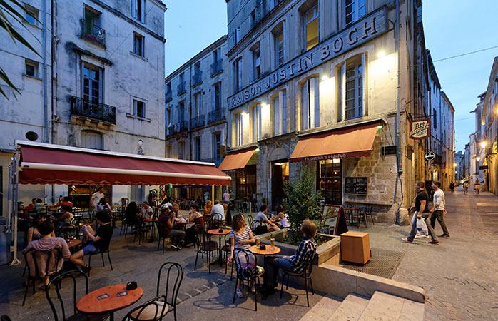 Centro histórico em Montpellier