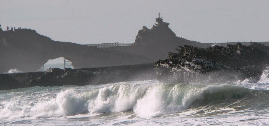 Clima e a temperatura de Biarritz
