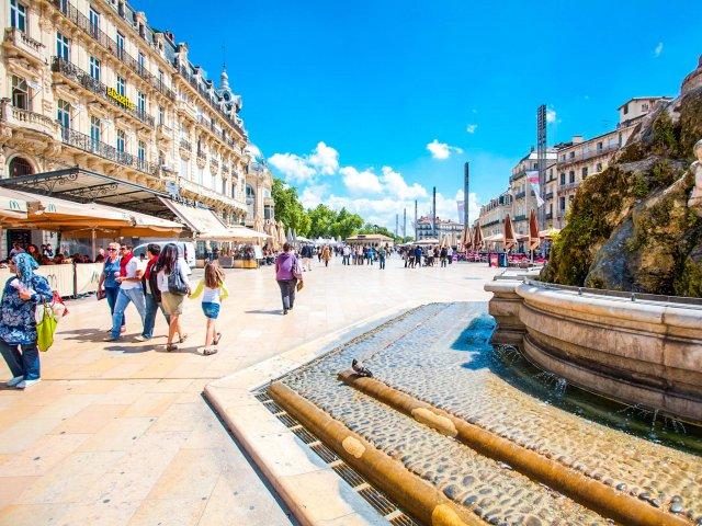 Centro de Montpellier de dia
