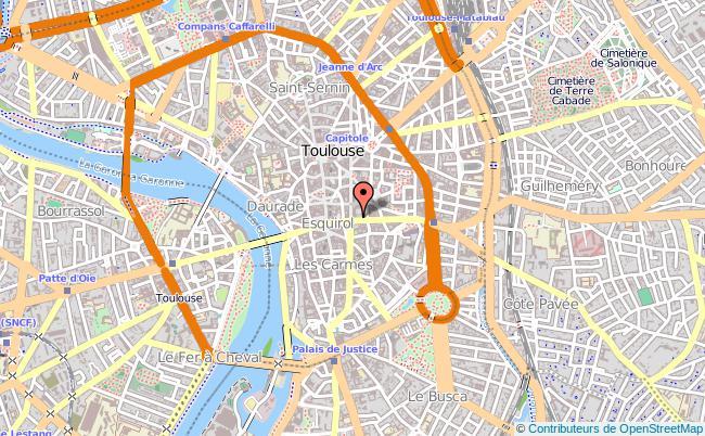 Mapa do Museu des Augustins