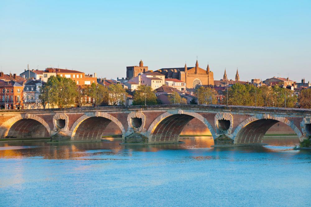 Vista da Pont Neuf em Toulouse