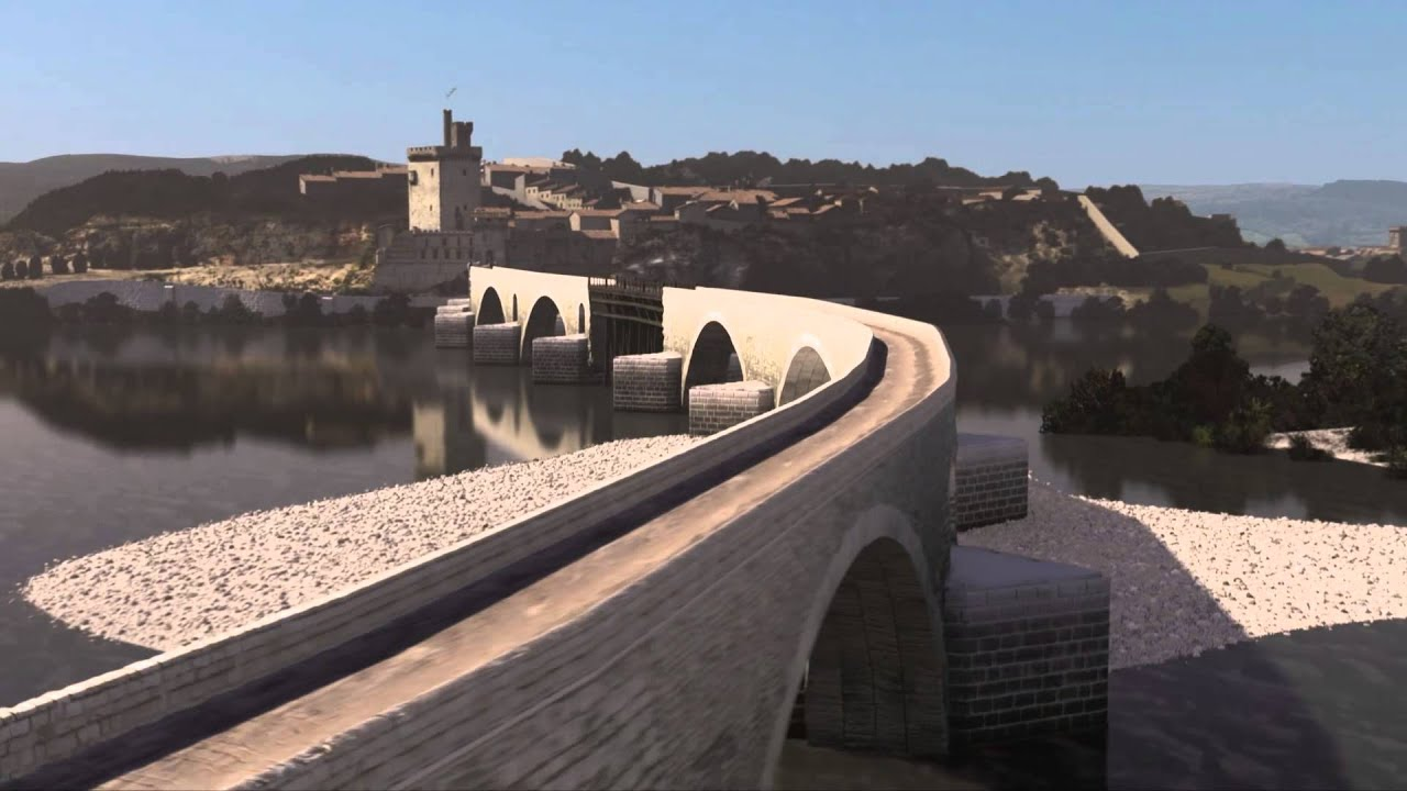 Vista superior da Ponte de Avignon