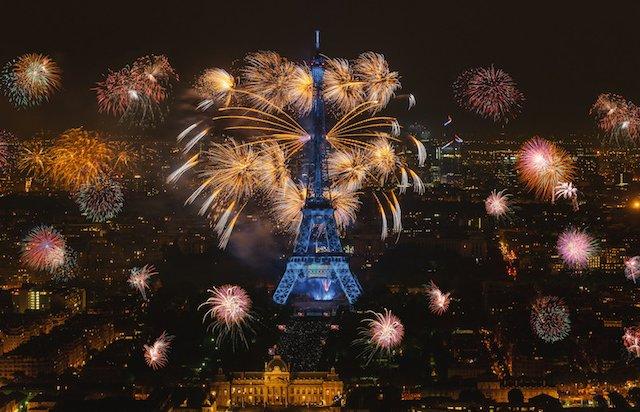 Ano Novo em Paris em 2019