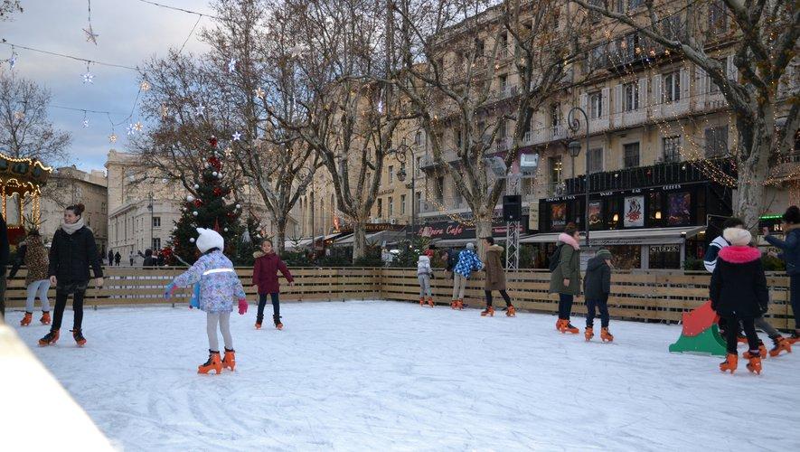 Pista de patinação em Avignon